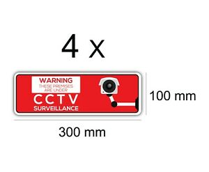 Sign Vinyl CCTV Stickers Security Camera Warning Decal Outdoor Durable
