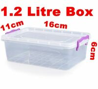 1.2ltr Medium Cuboid Clip and Close Food Container Microwave Freezer Resistant