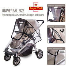 Universal Rain Cover Baby Infant Pushchair Stroller Buggy Pram Carrycot Clear UK