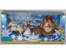Disney Cinderella Royal Holiday Carriage Play Set Doll Horses Sounds Electronic