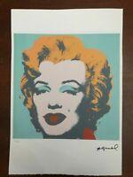 Andy Warhol Litografia 57 x 38 Arches Timbro Secco Israel Castelli AN456