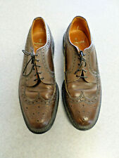 Thom McAn Bootmaster Brown Pebble Leather WingTip Oxford Men's 10 B Made in Usa