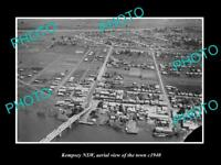 OLD LARGE HISTORIC PHOTO OF KEMPSEY NSW, AERIAL VIEW OF THE TOWN c1940