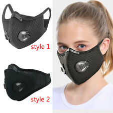 Outdoor Cycling Riding Air Purifying Half Face Mask Cover Black