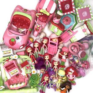 Huge Strawberry Shortcake Hasbro Lot Dolls Hats Furniture Car Accessories Bundle