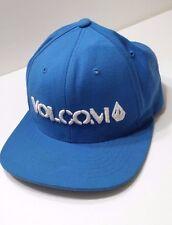 Volcom Blue and White Snapback Hat Cap skate surf extreme sport