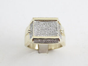 Men's 10k Yellow Gold Diamond Ring 1.00 carat