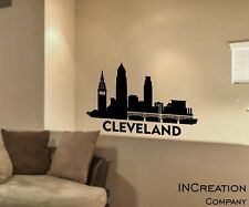 Cleveland Skyline Vinyl Wall Decal Wall Sticker Man cave Bedroom Removable