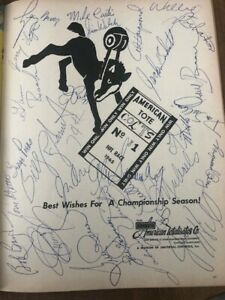 Baltimore Colts team signed yearbook Unitas, Berry,Orr, Parker
