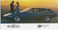 LOTUS Elite 501 502 503 504 1975-78 original uk brochure N. dm / m2 / 976/20