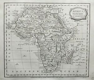 1806 Antique Map; Africa from the latest authorities - James Barlow