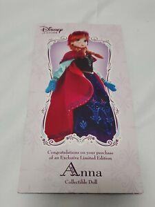 Disney Store Boucher Frozen Nordic Anna Limited Edition Doll.