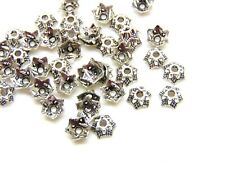 40 Pcs -  Tibetan Silver Small 7mm Bead Caps Jewellery Craft Beading UK A136