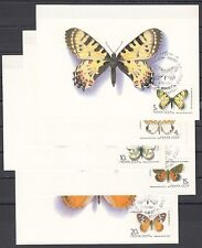 Russia, Scott cat. 5435-5439. Butterflies issue on Max. Cards.