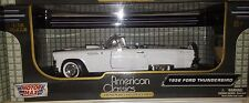 1956 Ford Thunderbird Convertible Die-cast Car 1:18 Motormax 9 inches White