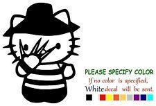 "Hello Kitty Freddy Krueger Adhesive Vinyl Decal Sticker Car Truck Window 7"""