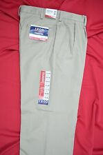 NEW WITH TAGS IZOD TAN AMERICAN CHINO 32X30 ACTUAL 33.75X30 PLEATED WITH CUFFS
