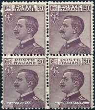 ITALIE VICTOR EMMANUEL III BLOC DE 4 N° 178 NEUF ** SANS CHARNIERE