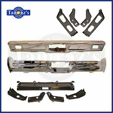 1964 Ford Galaxie Chrome Front & Rear Bumper & Bracket Set - Brand New Tooling