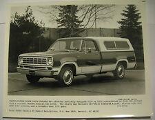 1975 Dodge D-100 & D-200 Club Cab w/ Cap Cover Press Photo