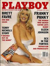 PLAYBOY NOVEMBER 1997-B - INGA DROZDOVA - BRETT FARVE - BEBE BUELL NUDE!!!