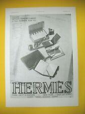 PUBLICITE DE PRESSE HERMES SELLIER NECESSAIRE FUMEUR AGENDA ARTICLES LUXE 1928