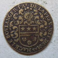 Paris jeton laiton Le Boulanger maire 1643 / Louis XIII brass jetton  mayor