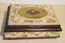 VINTAGE REUGE SAINTE CROIX Music / Jewelry Box Tapestry CH 2/36