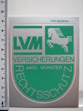 Aufkleber Sticker LVM Rechtschutz Versicherungen Münster Wappen (2490)