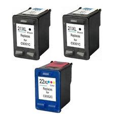PACK 3 cartuchos impresora  21 &  22 XL Deskjet f4180 f390 f394 f4100 f4135