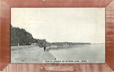 1912 North Shore of Storm Lake, Iowa Picture Frame Postcard