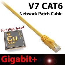 V7 14ft Yellow CAT6 Network Cable Ethernet Patch Gigabit+ Snagless Design RJ45