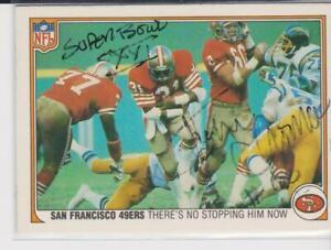 JOHN CHOMA SAN FRANCISCO 49ERS 1981-1983 VIRGINIA   AUTOGRAPHED CARD RARE