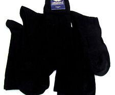 NUEVO 5 X Par Calcetines de hombre negro 76% algodón, 22%Poliamida, 2% Elasta