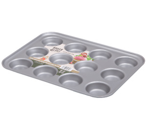 Baker & Salt Non-Stick 12 Cup Cupcake Tin Baking Tray Quality Made in UK