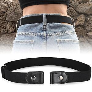 Women Brown Chocolate Band Belt Hip Waist Stretch Big Round Buckle Size M L XL