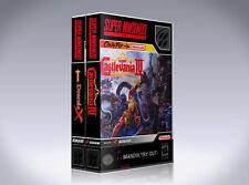 NEW custom game storage cases CastleVania: Dracula X and Cv: IV  -No Game- SNES