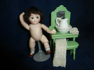 """Antique Rare 5"""" All Bisque Googly Kestner 111 Jointed Elbows-Knees"""