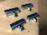 2 pairs Raleigh Chopper MK1/2 Brake Blocks *British Made**FREEPOST UK**