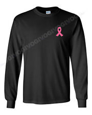 Men's Pink Ribbon #2 T-Shirt Fight Against Breast Cancer Tee Support Long Sleeve