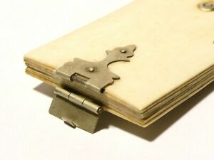 Antique 1840,s Miniature Adie Memoire Days of the Week with Nickel Book Clasp