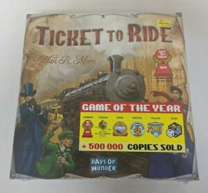 Ticket To Ride by Alan R. Moon (2004, Days of Wonder) New in shrinkwrap!