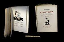 [CURIOSA EROTISME] ARISTOPHANE / CARLEGLE (ill. de) - Lysistrata. 1/790.
