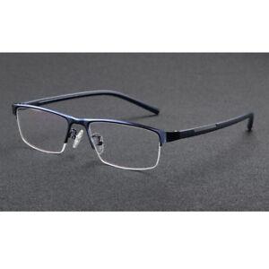 Men Photochromic Reading Glasses Half Rim Eyeglasses Color Change Under Sunlight