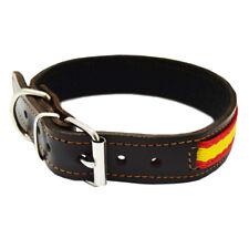 HUNTER ARIZONA Collar para perros cuero marr/ón 55 con tachuelas