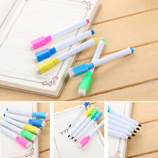 5Pcs Magnetic Dry Wipe White Board Window Markers Pens Built In Eraser Random E7