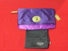 Authentic Coach 12926 Amanda Purple Plum Satin Evening Bag (EUC) Retails $298