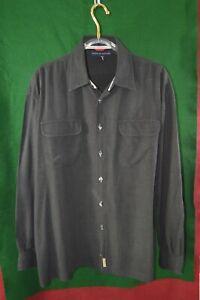 Tommy Hilfiger Men's L/S Shirt SZ XXL Black