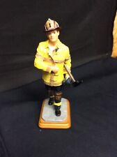 "Vanmark Red Hats Of Courage ""Going Aloft"" Fireman Figurine Firefighter 11"" tall"