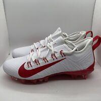 Nike Alpha Huarache 7 Pro Low Mens CJ0265-103 White Red Lacrosse Cleats Size 8